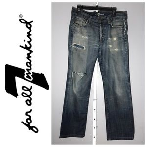 7 For All Mankind Men's Distressed Jeans